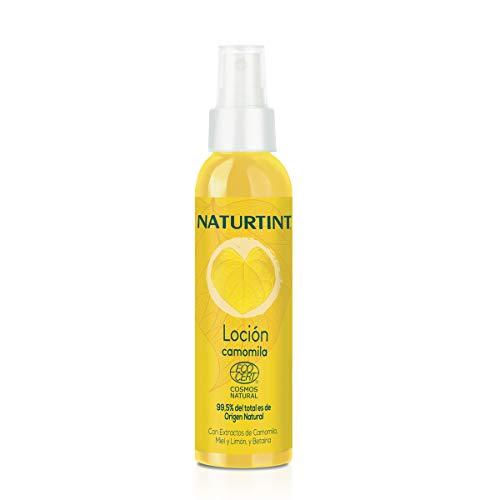 Naturtint. Loción en Spray de Camomila. Aclara Progresivamente el Cabello. ECOCERT. 99.5% Ingredientes naturales. Con Camomila, Miel y Limón. 125ml