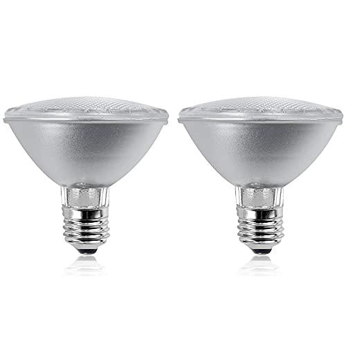 Luxvista 50W PAR30 E27 Bombilla Regulable, Lámpara de Reflector con 320LM, AC 220-240V (Luz Cálida 2800K, 2-Undades)