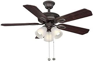 Hampton Bay Glendale 42 in. Oil Rubbed Bronze Ceiling Fan With Reversible Dark Teak/ Walnut Blades