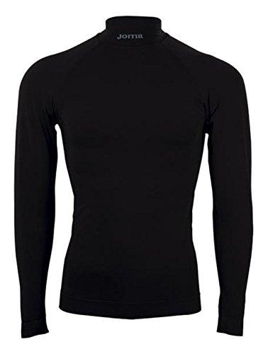 Joma Brama Classic - Camiseta térmica de manga larga para niños, color negro, talla 12-14 años