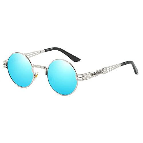 LUOXUEFEI Gafas De Sol Gafas De Sol Mujer Oro Negro Hombre Gafas De Sol Redondas Espejado Unisex