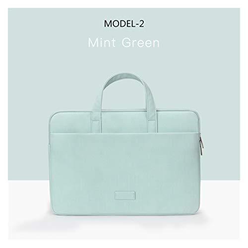 Laptop Bag Case For Macbook Air Pro Retina 13 14 15 Laptop Sleeve 15.6 Notebook Bag For Dell Acer Asus HP Business Women Handbag (Color : MODEL 2 GREEN, Size : 12 13INCH)