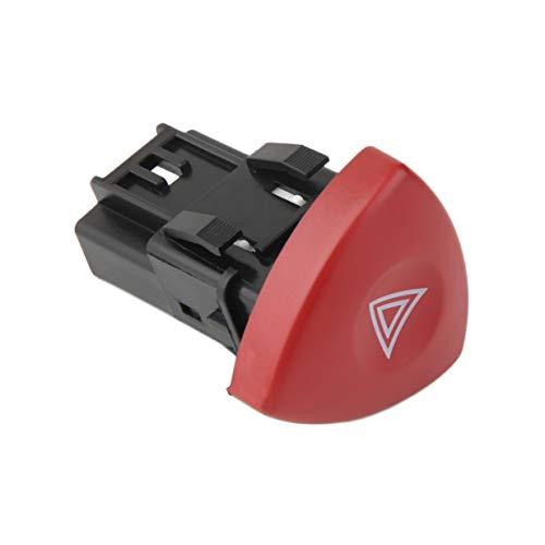 Timetided Interruptor de luz de Advertencia Intermitente de Peligro de Emergencia Warnblinker Schalter para Renault LaToola Master Trafic II Vauxhall 01-14