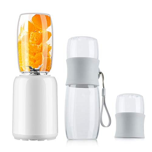 Fantastic Prices! NJLC Portable Bottle Mixer, Fully Automatic Multi-Function Fruit Mixer Electric Portable Juice Cup,White