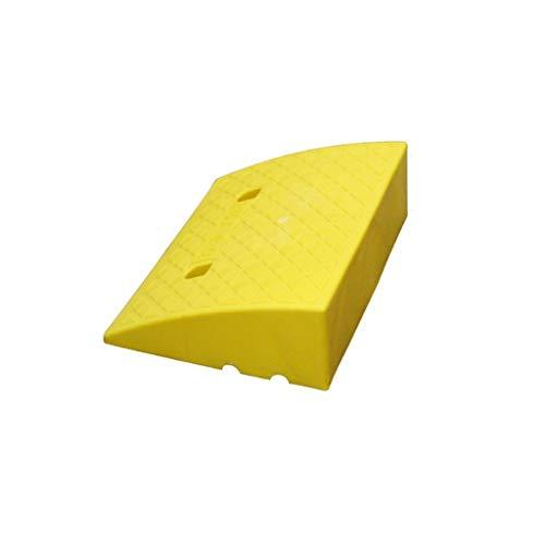 C-J-Xin Haushalt Curb Ramps, Utility Vehicle Tieflader-LKW-Fernsteuerungsauto Rampen Fahrzeugschutz Reifen Multifunktionsschwelle Pad verschleißfest (Color : Yellow, Size : 39 * 49.5 * 16.5CM)