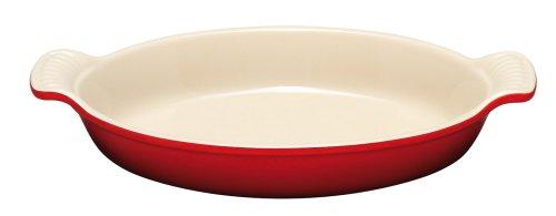 Le Creuset PG0400-2067 Heritage Stoneware Oval Au Gratin Dish, 24-Ounce, Cerise