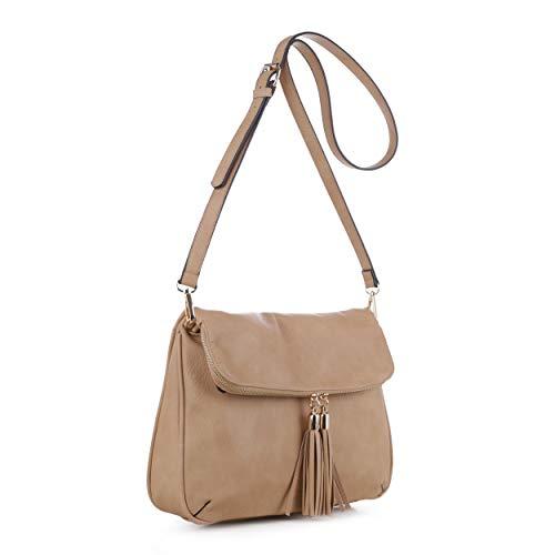 Concealed Carry Crossbody Bag | Firearm Purse | Detachable Strap | Black