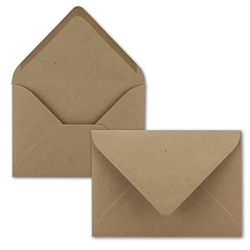 25 Mini Brief-Umschläge - Sandbraun - 5,2 x 7,6 cm - Miniatur Kuverts mit Nassklebung für Blumen-Grüße, Grußkarten, Anhänger & Geld-Geschenke - FarbenFroh by GUSTAV NEUSER