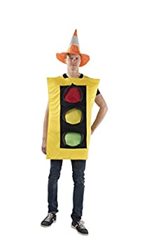 Dress Up America Traffic Light Costume and Safety Cone Hat - for Men  one Size