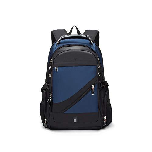 Haoooandnb Zainetto Uomo Raincoat da 17 Pollici per Laptop Zaino Uomo USB Carica da Viaggio Zaino da Viaggio Oxford Zaino Borsa da Scuola Vintage Maschile (Color : Navy Blue, Size : 17 Inches)