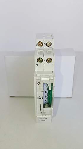YMBERSA Reloj Programador mecánico Diario (24h.) 1 módulo con batería Reserva para Cuadro eléctrico de Piscina. 230 V