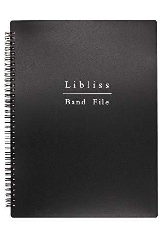 【プロの演奏者推薦】楽譜ファイル バンドファイル A4 60ページ ブラック