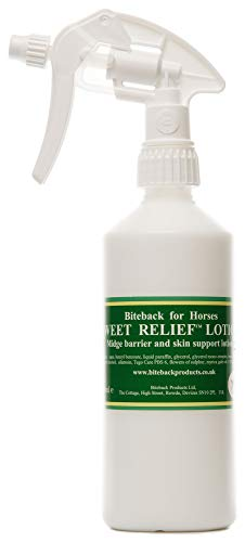 Biteback Products 'Sweet Relief' Midge Barrier Lotion for Itchy Horses SPRAY 500ml