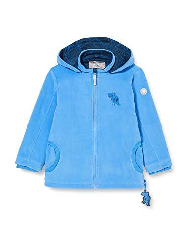 Sigikid Jungen Mini Fleecejacke mit Kapuze Größe 098-128 Fleece-Jacke, Blau/Dino, 110
