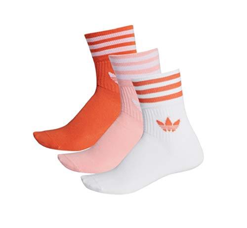 Adidas Mid Cut Crew Socks Socken 3er Pack (35-38, red/pink/white)