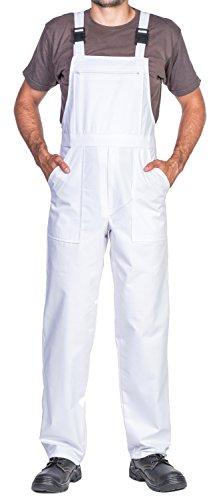 Mazalat® Arbeitshosen männer, Latzhose Herren, Größen S-XXXL, Arbeitshose Herren Made in EU, Latzhosen, Arbeit Hose, Blaumann, Arbeitskleidung Qualität (S, Weiß)