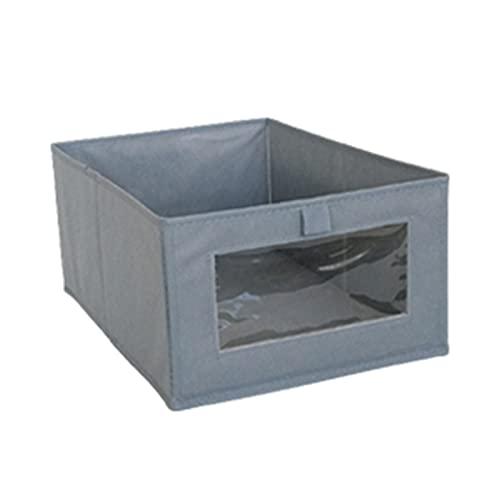 Yuvera Organizador de cajones para ropa interior, 1/2/3 piezas, caja de almacenamiento transparente plegable para ropa, calcetines, ropa interior, corbatas, camisas