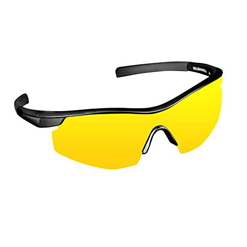Night Vision Tac Glasses by Bell and Howell,Polarized, Sports, Military-Inspired Eye Wear for Low Light Conditions As Seen On TV (Unisex)