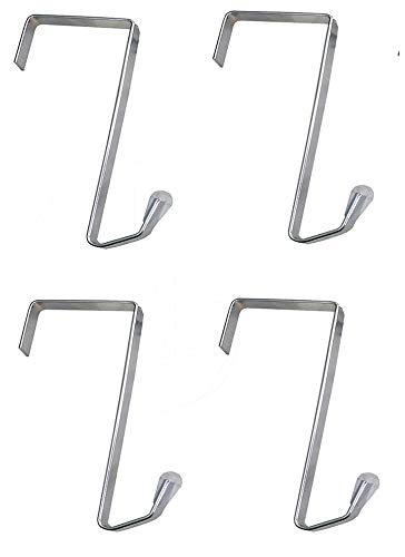 Misslo 4 Packs Over The Door Metal Hook