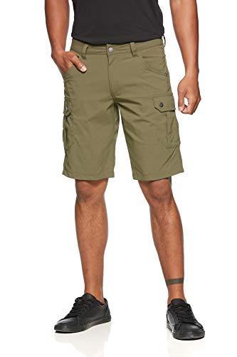 Jeff Green Pantalon Technique Hommes Outdoor Court Cargo Léger Élastique Sèche Rapidement Stan, Taille - Hommes:XXL, Couleur:Olive Night