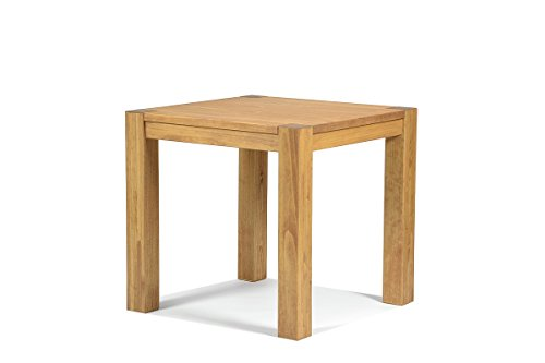 Naturholzmöbel Seidel Esstisch 80x80cm Rio Bonito Farbton Honig hell Pinie Massivholz geölt und gewachst Holz Tisch quadratisch für Esszimmer Wohnzimmer Küche, Optional: passende Bänke
