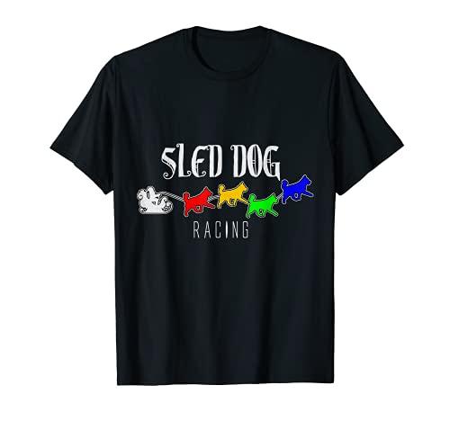 Slitta per cani da corsa, slittino, sport invernali, idea regalo Maglietta