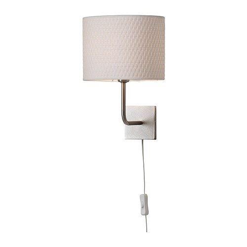 ALÄNG - lampa ścienna, niklowana, biała
