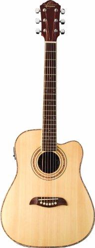 Oscar Schmidt OG1CE-A-U Folk Acoustic Electric Guitar - Natural
