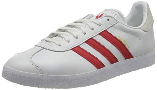 adidas Gazelle W, Zapatillas de Running Mujer, Ftwwht Lusred Crywht, 37 1/3 EU