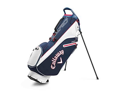 Callaway Golf 2020 Hyperlite Zero Lightweight Stand Bag (Navy/Red/White , Double Strap)