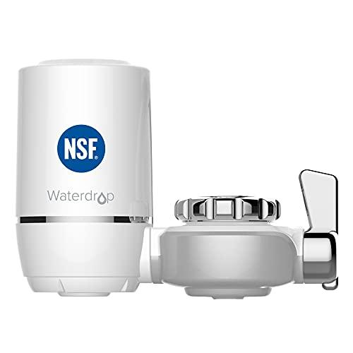 Waterdrop NSF Certificado WD-FC-01 Filtro de Agua, Sistema de Filtración ACF, Purificador de Agua de Cocina de Larga Duración, Reducir el 94.42% de Cloro, Sabor y Olor (1 Filtro Incluido) 🔥