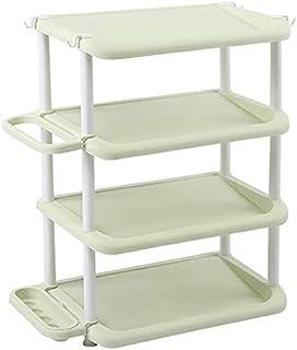 Cabinet de chaussures anti-poussière Grille de rangement de chaussures à 4 niveaux, porte-étagère réglable Organisateur Ti...