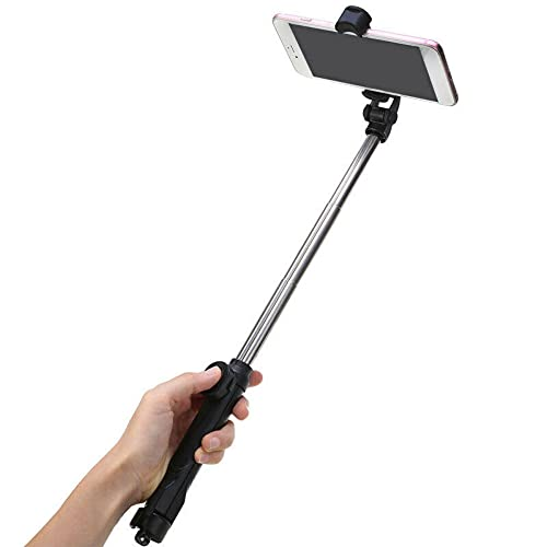 Xhtoe Compacto Selfie Stick 4 en 1 inalámbrico Bluetooth Control remoto selfie stick universal extensible trípode para viajes vídeo