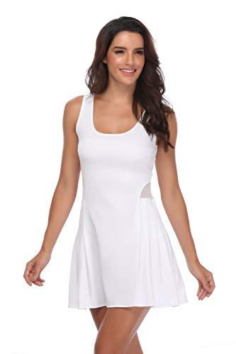 Meja Women's Tennis Dress, Sleeveless Sport Dress for Golf Badminton Running Workout Casual Girl's