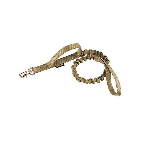 EXCELLENT ELITE SPANKER Tactical Bungee Hundeleine Militär Polizei Hund Training Leine Seil Seil mit 2 Kontrollgriffen (Kojote braun)