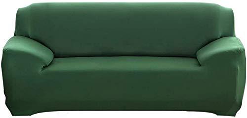 DIELUNY - Funda de sofá extensible con reposabrazos, cómoda funda de sofá para salón dormitorio (verde oscuro, 4 plazas/sofá)
