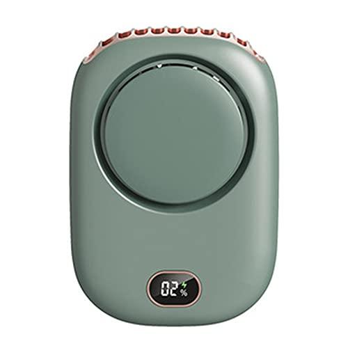 Ventilador USB Mini Ventilador de Enfriamiento Ventilador Personal Ventilador Deportivo Portátil Recargable Manos Libres Ventilador Verde 2000mAh
