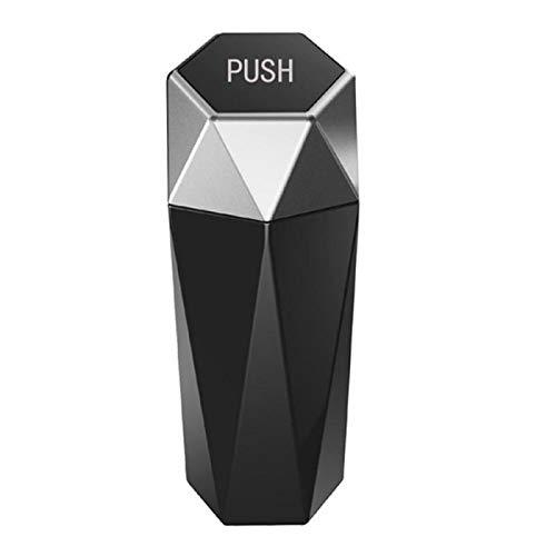 Moda Bote de Basura de automóviles con cárter Dustbin Diamond Design Vehículos a Prueba de Fugas Papelera de Basura Mini Barback Bande for Automotive Car & Home Accesorios de Interior