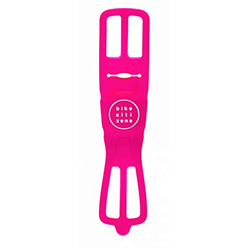 Finn Bike Citizens Universal Smartphone Bicycle Mount, 100% Silicone, Compact, Light, Portable | Easy No Tools Mount | All Weather Use, UV Resistant | Durable | Made in Austria - Pink