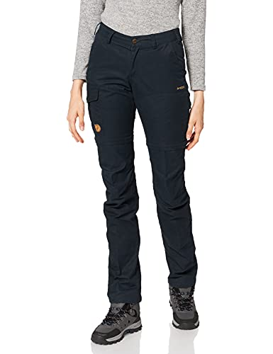 Fjällräven Damen Karla Pro Zip-Off Trousers W Sport, Dark Navy, 36