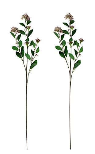 DARO DEKO Kunst-Pflanze Lorbeer-Schneeball XXL 100cm rosa 2 Stück