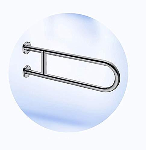 LIUYULONG Badegriff Griff U-förmigen Haltegriffe WC und Badezimmer Brushed Unterstützung Geländer Duschen, Anti-Rutsch-Bahn Behinderte Ältere Hilfswerkzeuge (Color : Brushed, Size : 70CM)