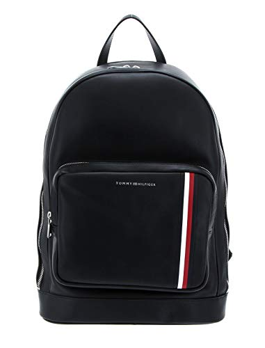 Tommy Hilfiger Fine Leather Backpack Black