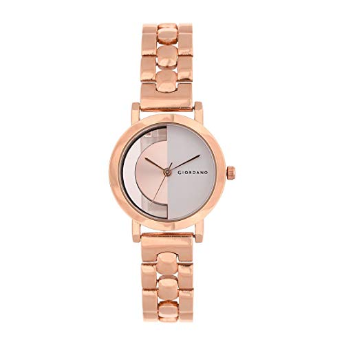 Giordano Analog Rose Gold Dial Women's Watch-C2173-33