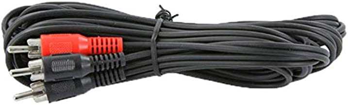 NavePoint 1-RCA Male to 2-RCA Male Audio Video Component Cable for HDTV, DVD, VCR, DVR 12 Ft