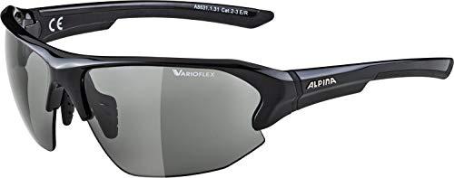ALPINA LYRON HR VL Sportbrille, Unisex– Erwachsene, black, one size