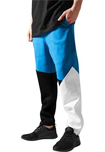 Urban Classics joggingbroek voor heren, Zig Zag broek TB286, maat Small, noir/turquoise/blanc