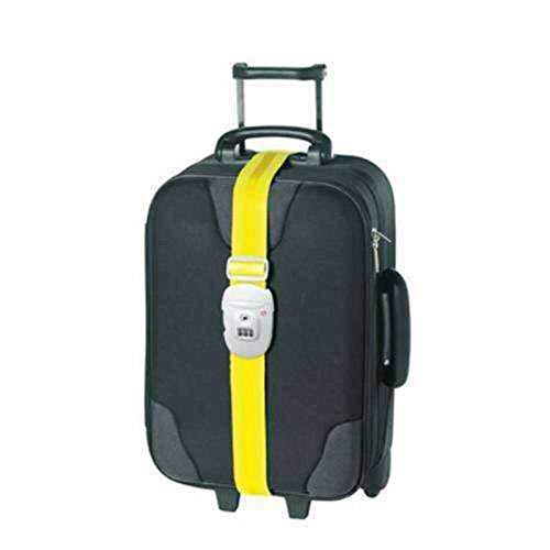 DesignGo - TSA US Securita - Sangle pour bagages -Jaune/Rouge/Orange/Bleu, Taille unique