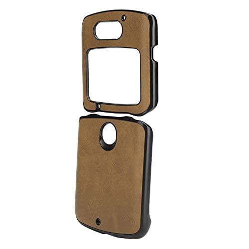 Handytasche, Handy-Schutzhülle Stoßfeste Handy-Lederhülle für Motorola Razr 5G(braun)