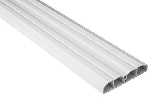 Zaunlatten Sparpaket PZL-01 | widerstandsfähiges Hart-PVC | Kunststoffzaun | Balkonbretter | pflegeleicht | weiß modern | 80 x 16 mm | Hexim | 50 Meter